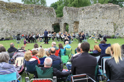 Performing with Darent Valley Youth Music at Eynsford Castle