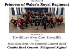 Members of ECB support The Band of Princess of Wales's Royal Regiment
